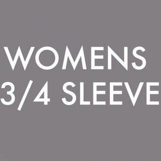 Womens 3/4 Sleeve